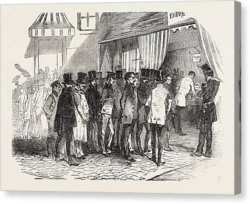 The Presidential Election In Paris Taking The Votes Canvas Print by French School