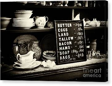 The Price List Canvas Print by Paul W Faust -  Impressions of Light