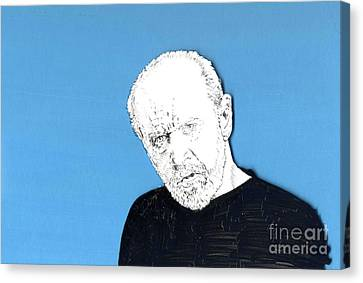 Canvas Print featuring the mixed media The Priest On Blue by Jason Tricktop Matthews