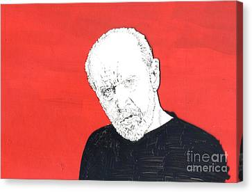Canvas Print featuring the mixed media The Priest On Red by Jason Tricktop Matthews