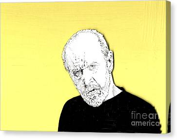 The Priest On Yellow Canvas Print by Jason Tricktop Matthews