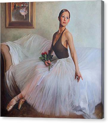 Dancer Canvas Print - The Prima Ballerina by Anna Rose Bain