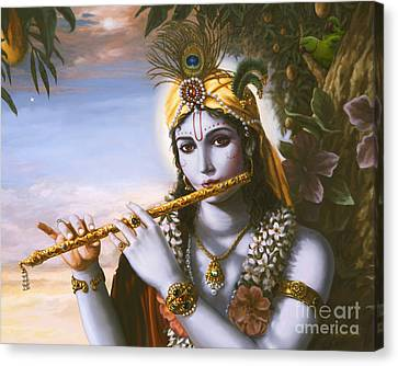 The Primordial Flute Player Canvas Print