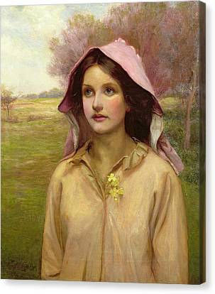 The Primrose Girl Canvas Print by William Ward Laing