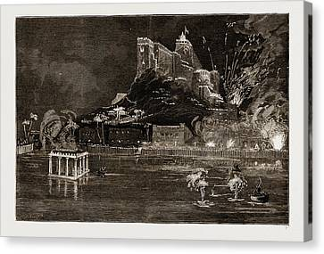 The Prince Of Wales At Trichinopoly, 1876 The Rock Canvas Print by Litz Collection