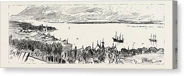 The Prince Of Wales In Norway View Of Molde Canvas Print by Norwegian School