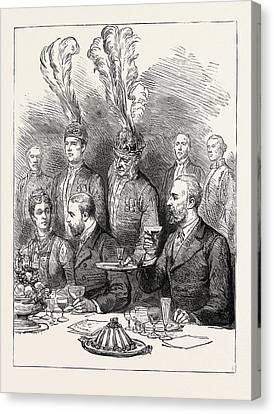 The Prince Of Wales In Sweden The Farewell Lunch Canvas Print by Swedish School