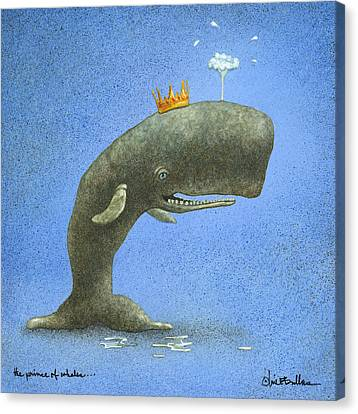 Whale Canvas Print - the Prince of Whales... by Will Bullas
