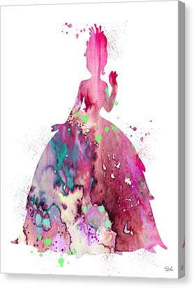 Frog Watercolor Canvas Print - The Princess And The Frog by Watercolor Girl