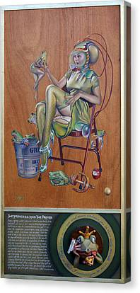 The Princess And The Frogs Canvas Print by Patrick Anthony Pierson