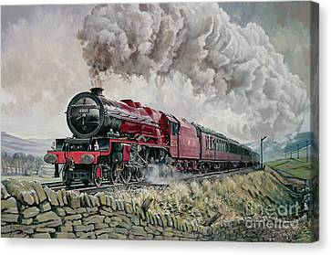 The Princess Elizabeth Storms North In All Weathers Canvas Print by David Nolan