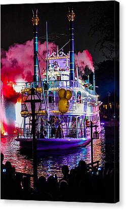 The Mark Twain Disneyland Steamboat  Canvas Print by Scott Campbell