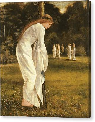 Sacrificial Canvas Print - The Princess Tied To A Tree by Sir Edward Coley Burne-Jones