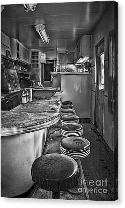 Old Diner Bar Stools Canvas Print - The Print by Medicine Tree Studios