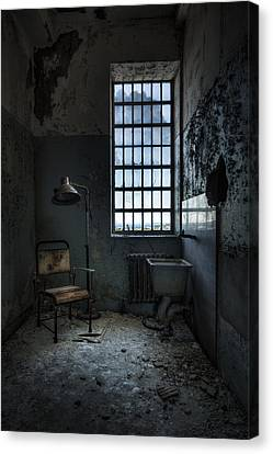Canvas Print featuring the photograph The Private Room - Abandoned Asylum by Gary Heller