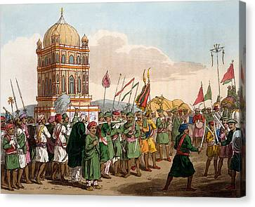 The Procession Of The Taziya, From The Canvas Print by Deen Alee