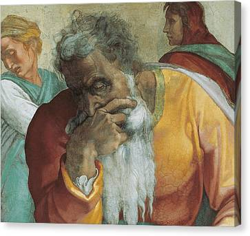 The Prophet Jeremiah Canvas Print by Michelangelo