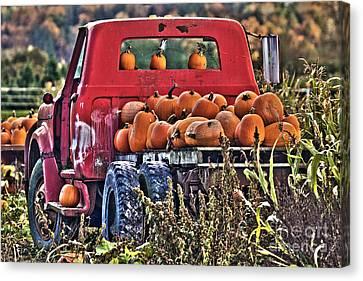 The Pumpkin Hauler Canvas Print