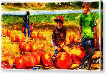 The Pumpkin Patch Canvas Print