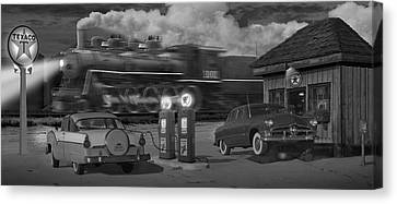 The Pumps - Panoramic Canvas Print