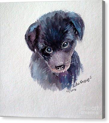 The Puppy Canvas Print
