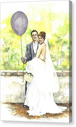 The Purple Balloon Canvas Print by Tyler Auman