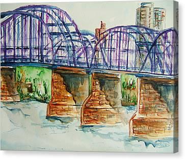 The Purple People Bridge Canvas Print