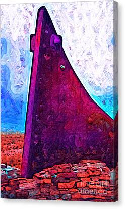 The Purple Pink Wedge Canvas Print