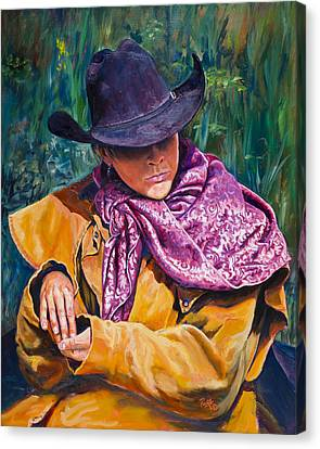 The Purple Scarf Canvas Print