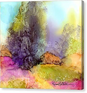 The Purple Tree Canvas Print by Karen Mattson