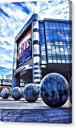 The Q - Home Of The 2016 Nba Champion Cleveland Cavaliers - 1 Canvas Print by Mark Madere