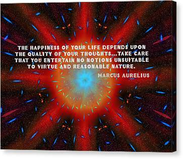The Quality Of Your Thoughts Canvas Print by Mario Carini