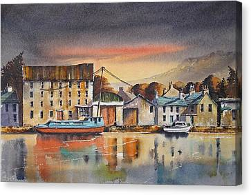 Canvas Print - The Quay At Graiguenamanagh by Roland Byrne