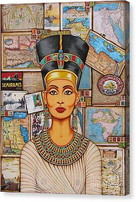 The Queen Of Amarna Canvas Print by Joseph Sonday