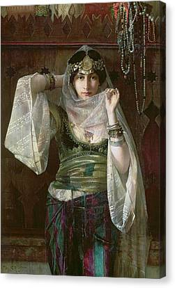 The Queen Of The Harem Canvas Print by Max Ferdinand Bredt