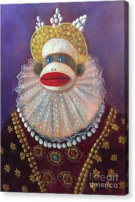 Canvas Print featuring the painting The Proud Queen by Randol Burns