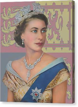 Canvas Print featuring the photograph The Queen by Roy  McPeak