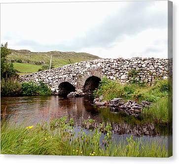 Canvas Print featuring the photograph The Quiet Man Bridge by Charlie and Norma Brock