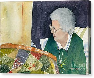 The Quilter Canvas Print