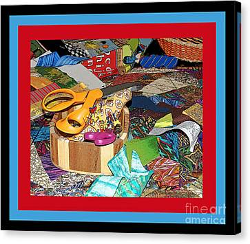 The Quilters Table Canvas Print
