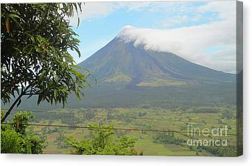 The Quite Mayon Canvas Print by Manuel Cadag