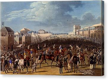 Sporting Art Canvas Print - The Race Over, Print Made By Charles by James Pollard
