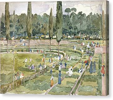 The Race Track Canvas Print by Maurice Brazil Prendergast