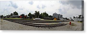 Canvas Print featuring the photograph The Railroad From The Series View Of An Old Railroad by Verana Stark