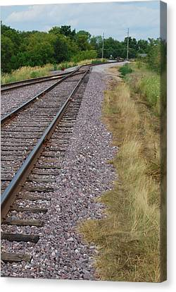 Canvas Print featuring the photograph The Rails by Ramona Whiteaker