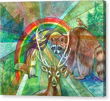 The Rainbow Cocoon Canvas Print by Elizabeth D'Angelo