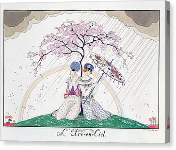 The Rainbow Canvas Print by Georges Barbier
