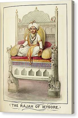 The Rajah Of Mysore Canvas Print by British Library