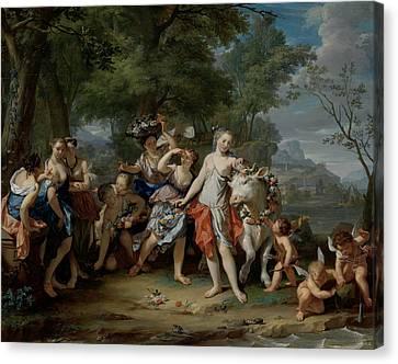 The Rape Of Europa, Nicolaas Verkolje Canvas Print