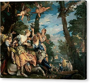 The Rape Of Europa Canvas Print by Veronese